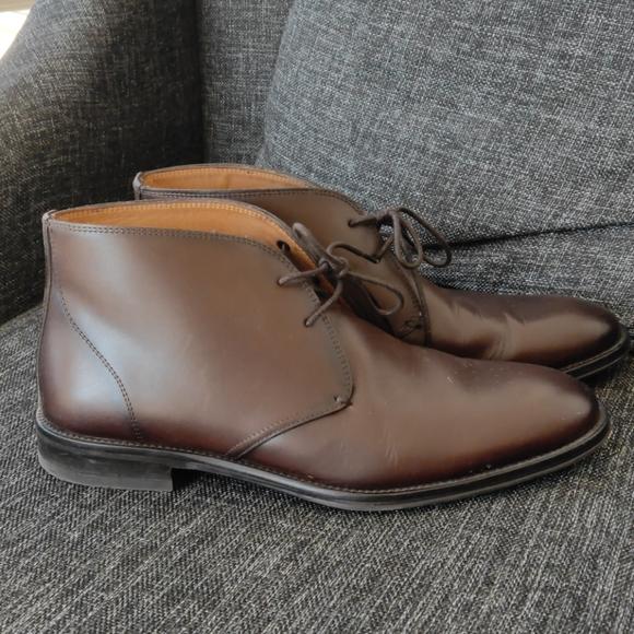 Massimo Dutti Mens Leather Boots